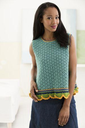 Free Crochet Pattern L50272 San Mateo Shell Top Lion Brand Yarn