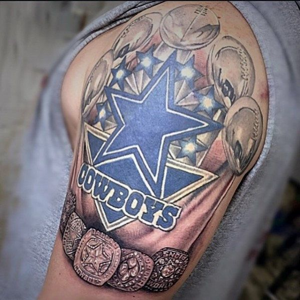 championship nfl rings dallas cowboys quarter sleeve tattoo designs tattoos pinterest. Black Bedroom Furniture Sets. Home Design Ideas