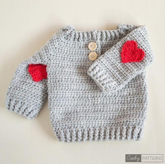 Red Heart Crochet Baby Sweater | Tejido, Curiosidad y Bebé
