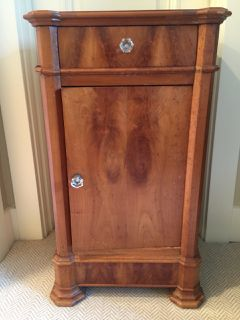 Vintage Side Table That Is Burl Wood With Gl S This Adorable Cabinet Could Be