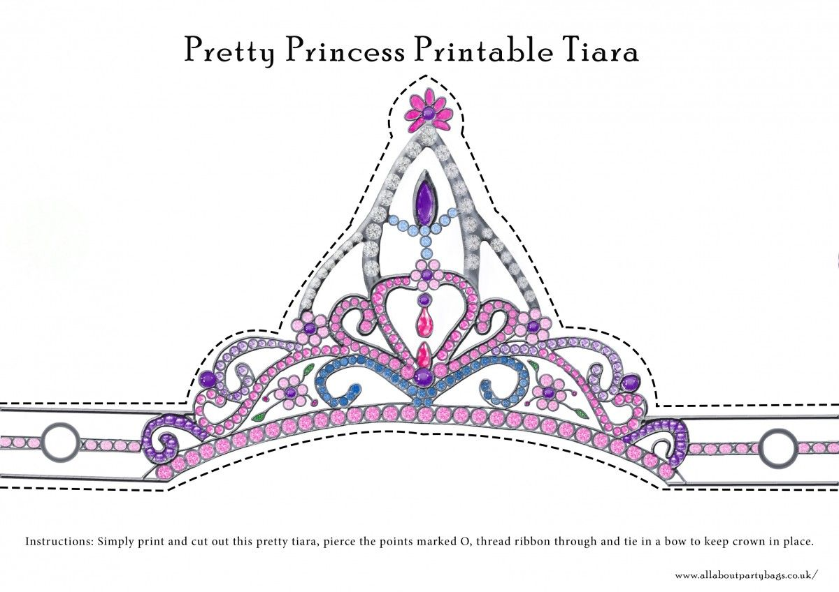 Free Downloadable Pretty Princess Tiara To Cut Out And