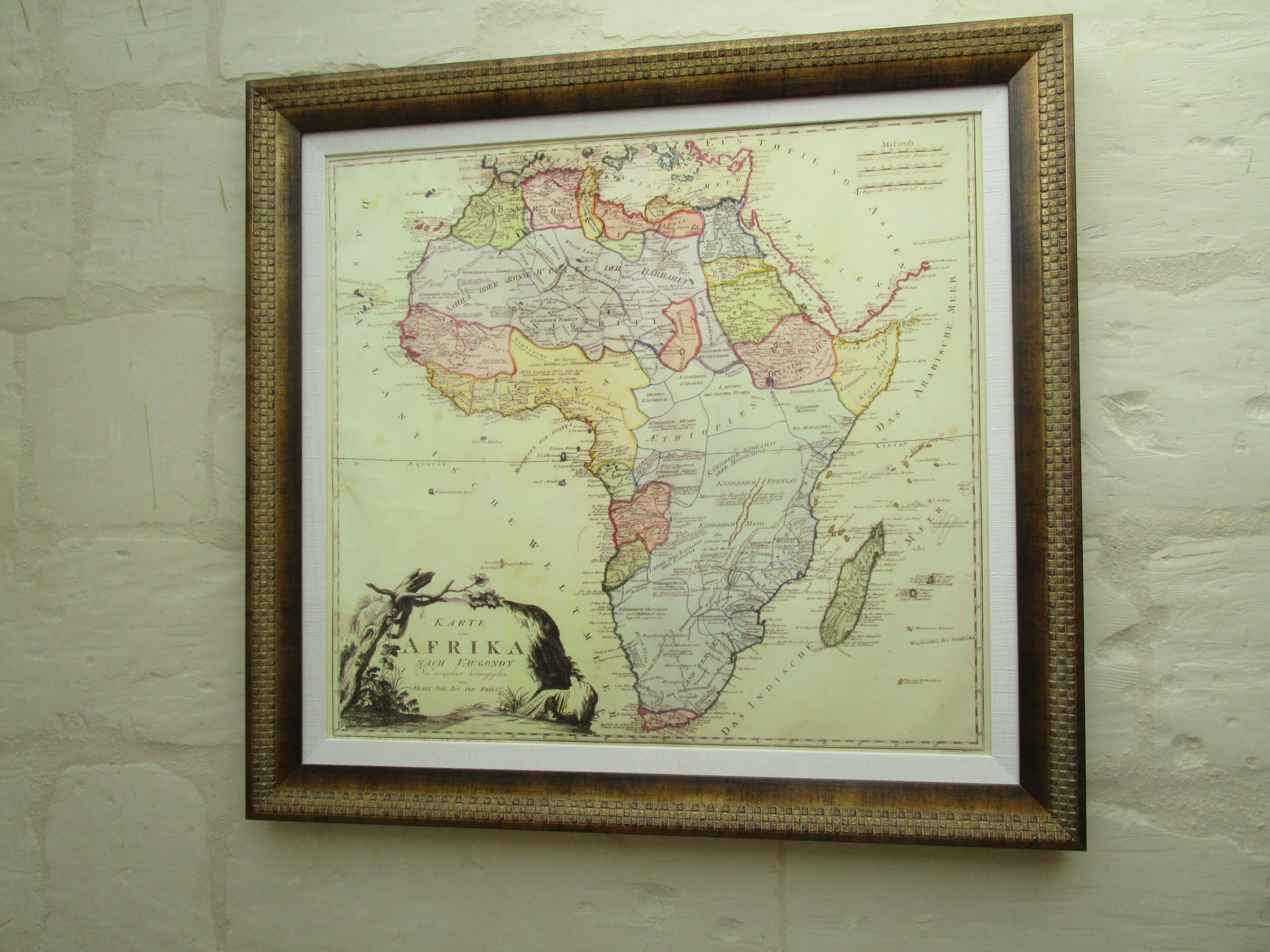 Old map of Africa, Africa map, Map, Vintage world maps