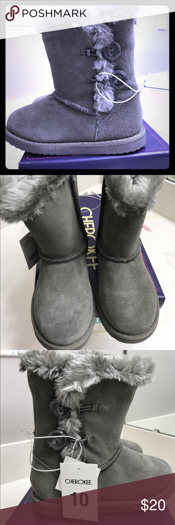 Girls winter boots size 10 NWT And box. Will ship same day or next Cherokee Shoes Boots