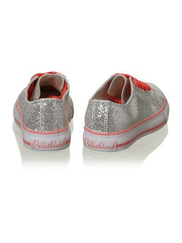 glittery silver shoe Grey