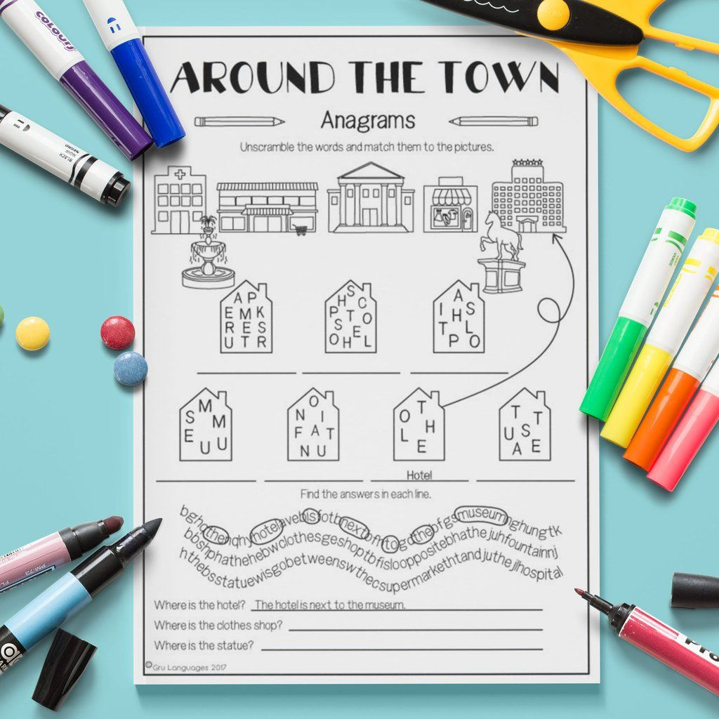Around The Town Anagrams
