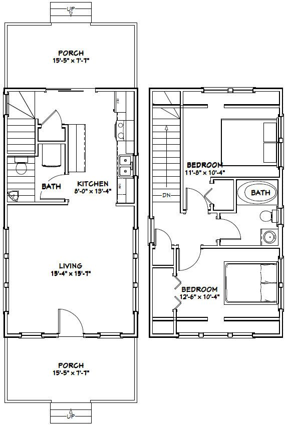 My Shed Plans   Make This A One Bedroom With The Ensuite Above The Kitchen  And A Large Walk Through Closet. PDF House Plans, Garage Plans, Shed Plans.