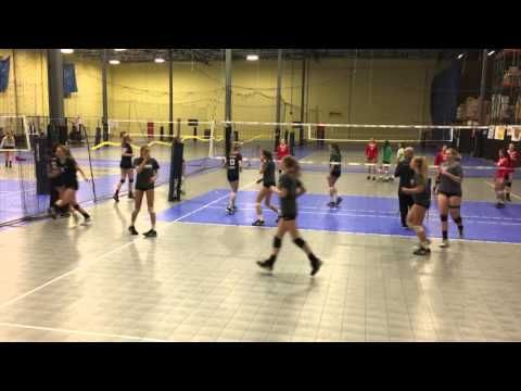 Showcase Outside Hitter Drill Youtube Coaching Volleyball Volleyball Drills Drill
