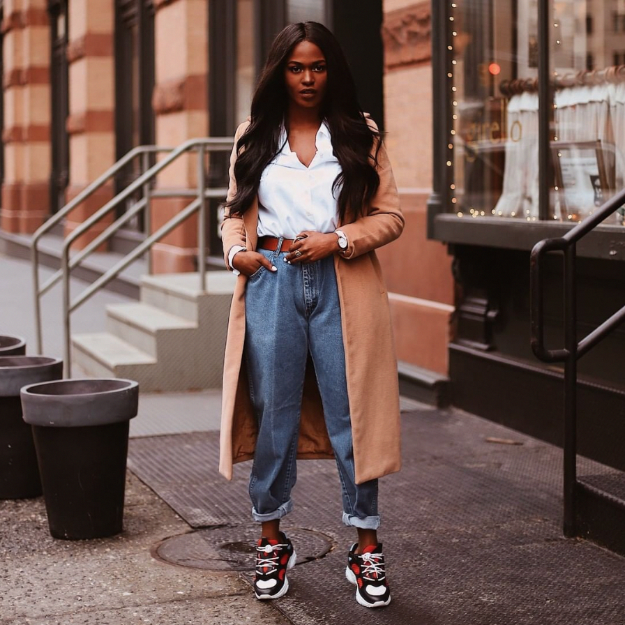 The Nella Lace Up Sneaker as seen by @kiitana