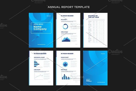Modern annual report template   Annual reports, Template and Card ...