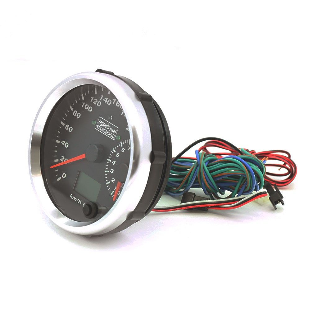 Reddragonfly 199 km//h 12000 rpm LCD Digital Tachometer Mechanical Speedometer Odometer w mount for Motorcycle Scooter mph//kmh