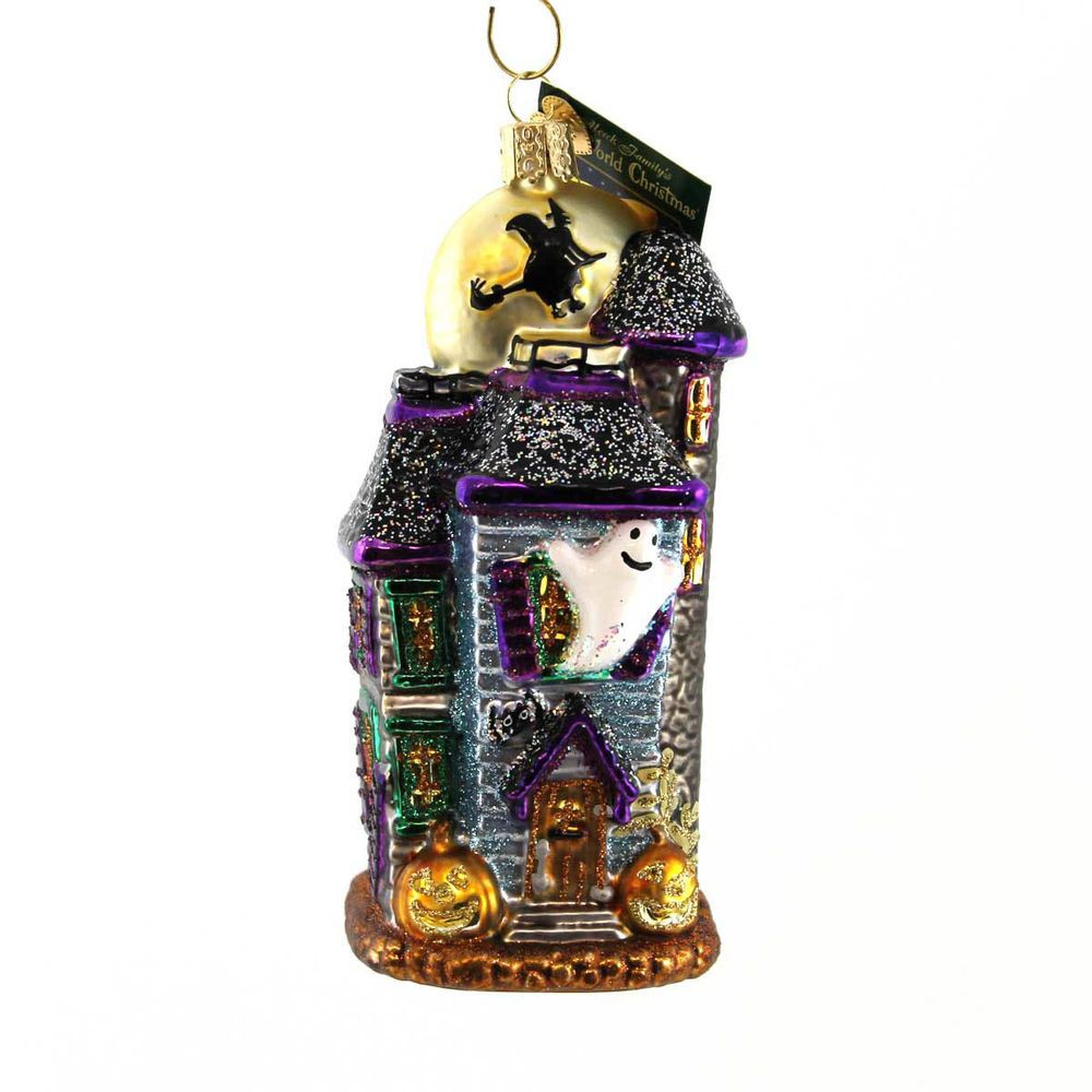 Old World Christmas Haunted House Glass Halloween Ghost Spooky ...