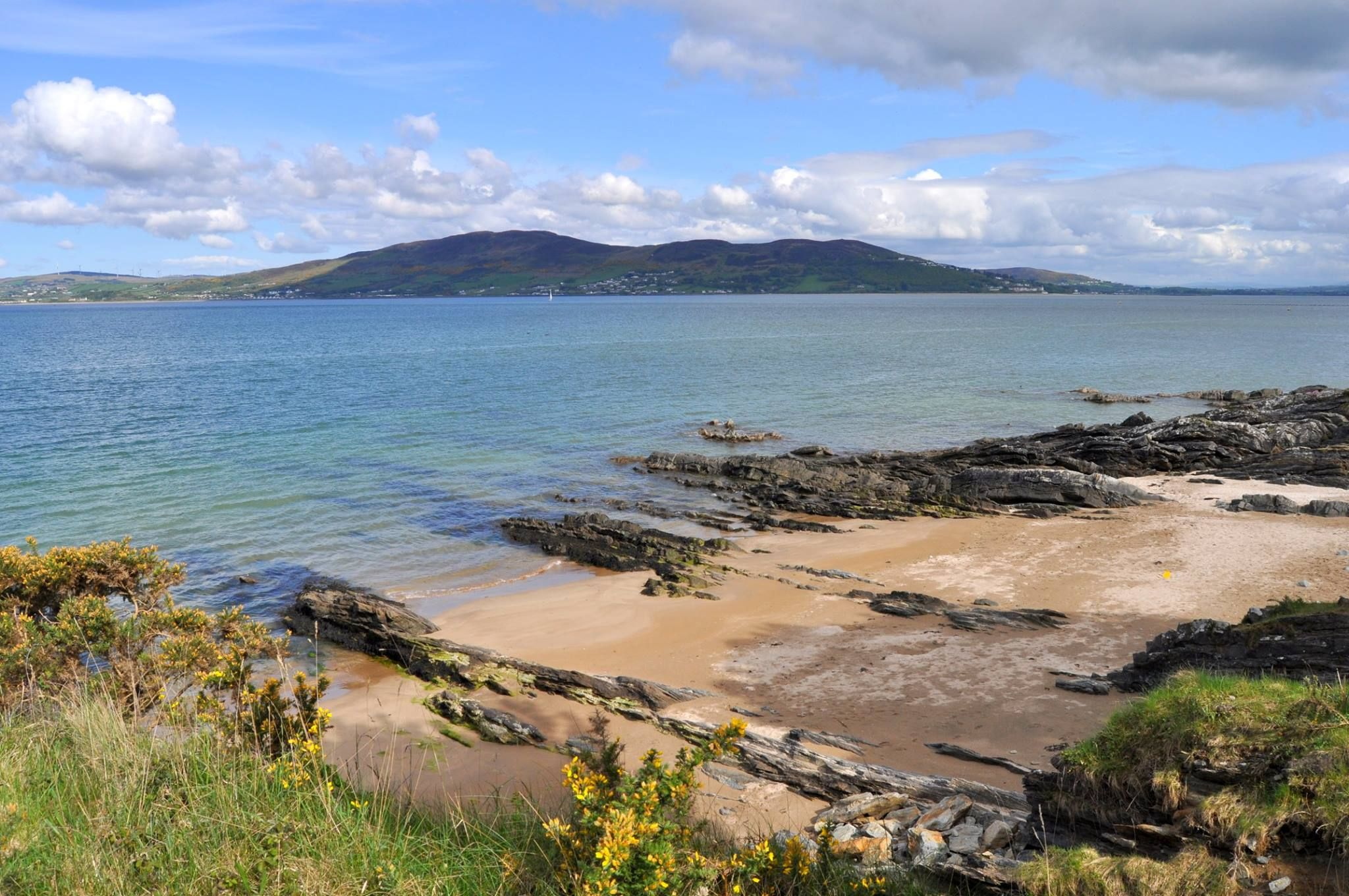 Looking across Lough Swilly towards Lisfannon from