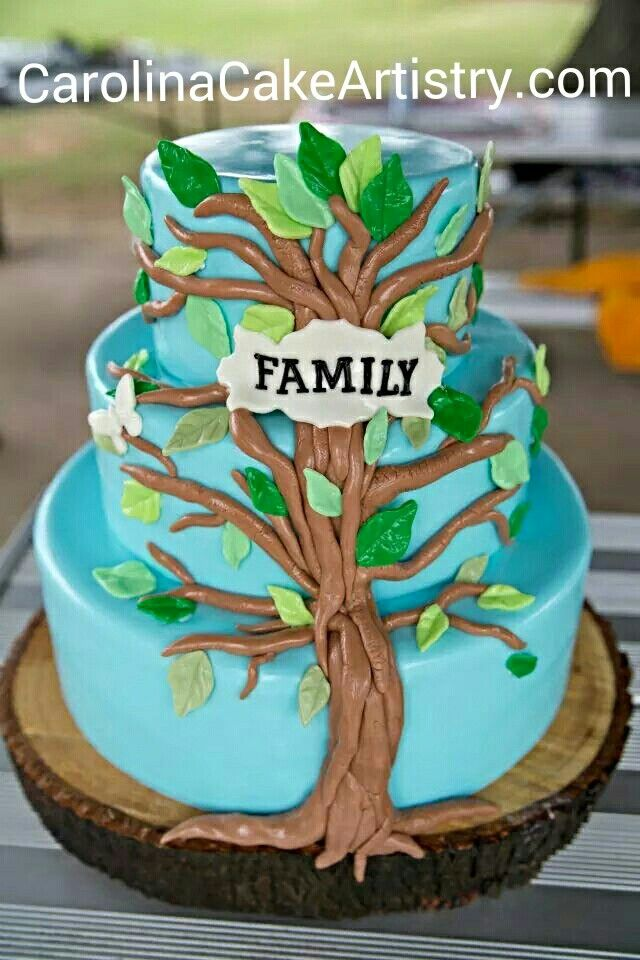 Family Tree For Dads 80th Birthday By Whitecrafty Cakesdecor