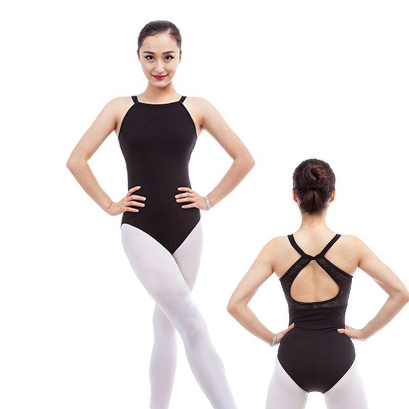 4ca768238 Click to Buy    Girls Adult Ballet Dance Leotards Sexy Hang Neck ...