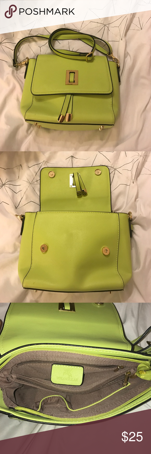 Polo Villae crossbody Lime colored cross body bag that is perfect for  spring and summer. Polo Villae Bags Crossbody Bags 8c5300357a