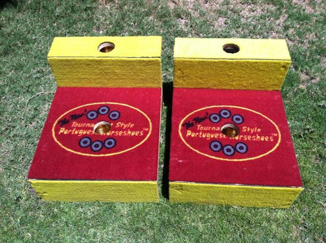tsph proteams design tournament style portuguese horseshoes corporate logo washer toss game