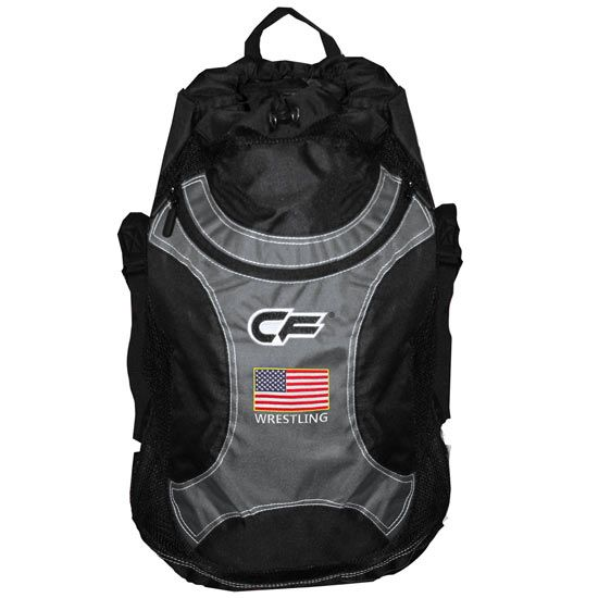 Cage Fighter Usa Wrestling Gear Bag Pin Shoes