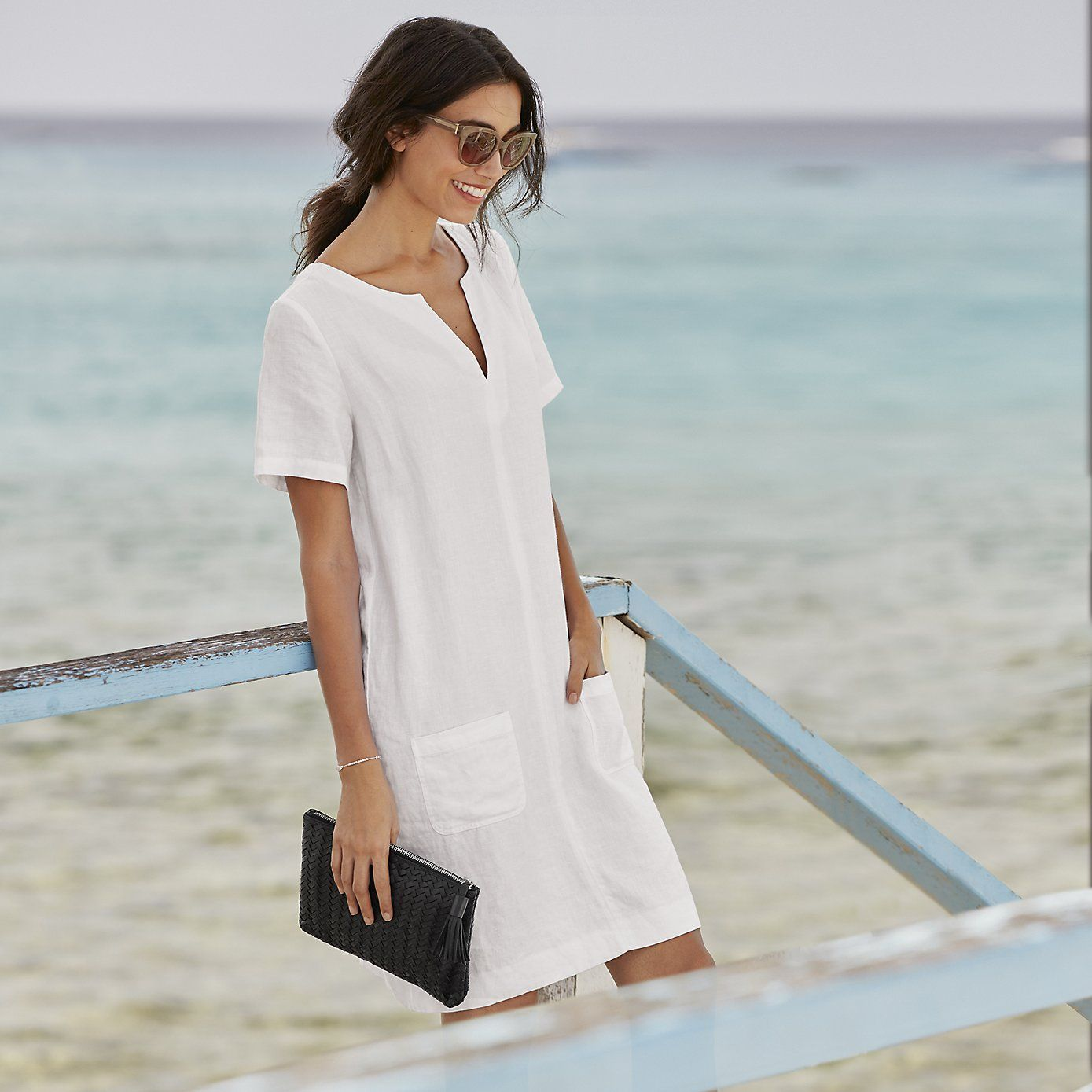 enjoy discount price best selection of lowest price Linen Pocket Dress | The White Company | Plain and simple ...