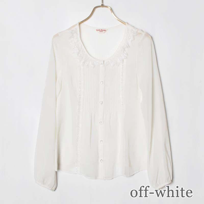 フェアリーシフォンブラウス (Fairy chiffon blouse)   BLOUSE (ブラウス)     Emily Temple cute official online shop