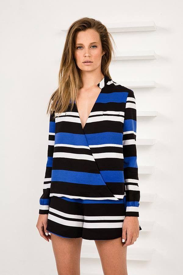 Finders Keepers - Midnight Lover Shorts In Dark Stripe