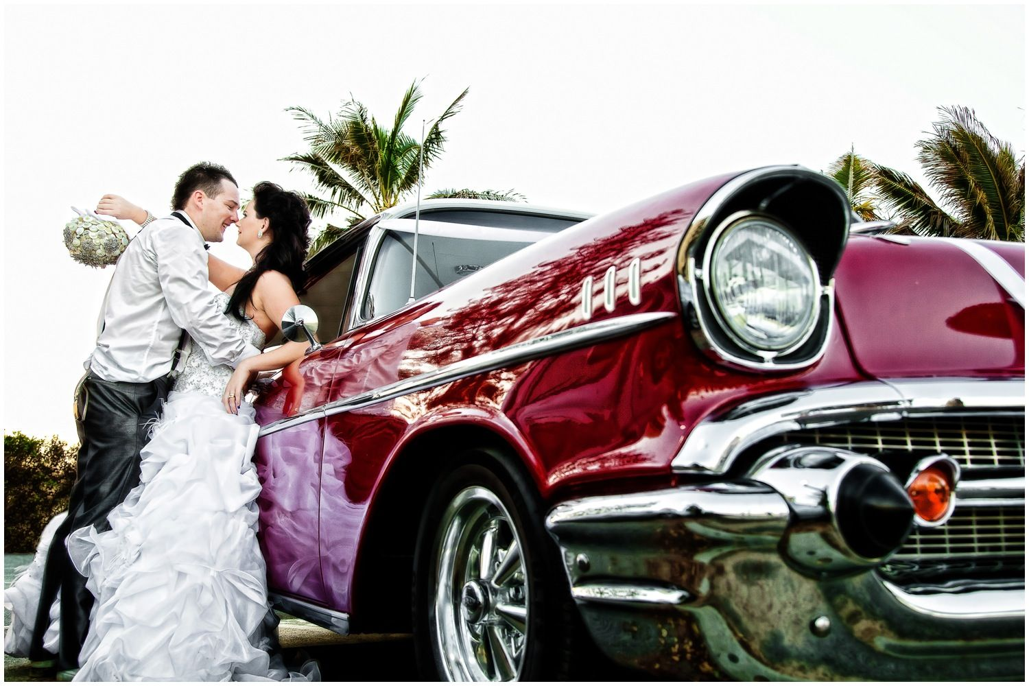 Stunning wedding car this is a muscle car taken at a ...