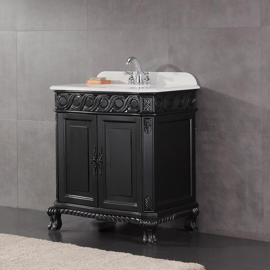 Ove Decors Trent Antique Black Undermount Single Sink Bathroom