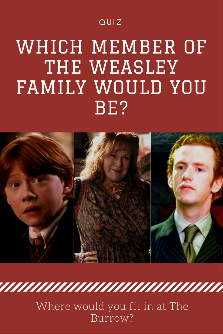 Which Member Of The Weasley Family Would You Be?   Harry ...