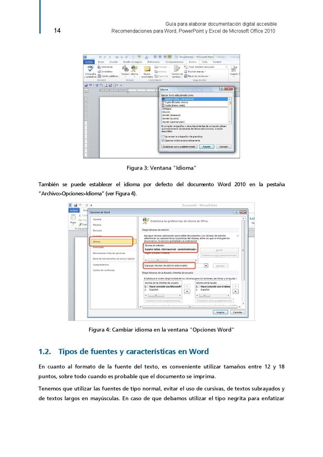 Guia Para Elaborar Documentación Digital Accesible Excel Screenshots