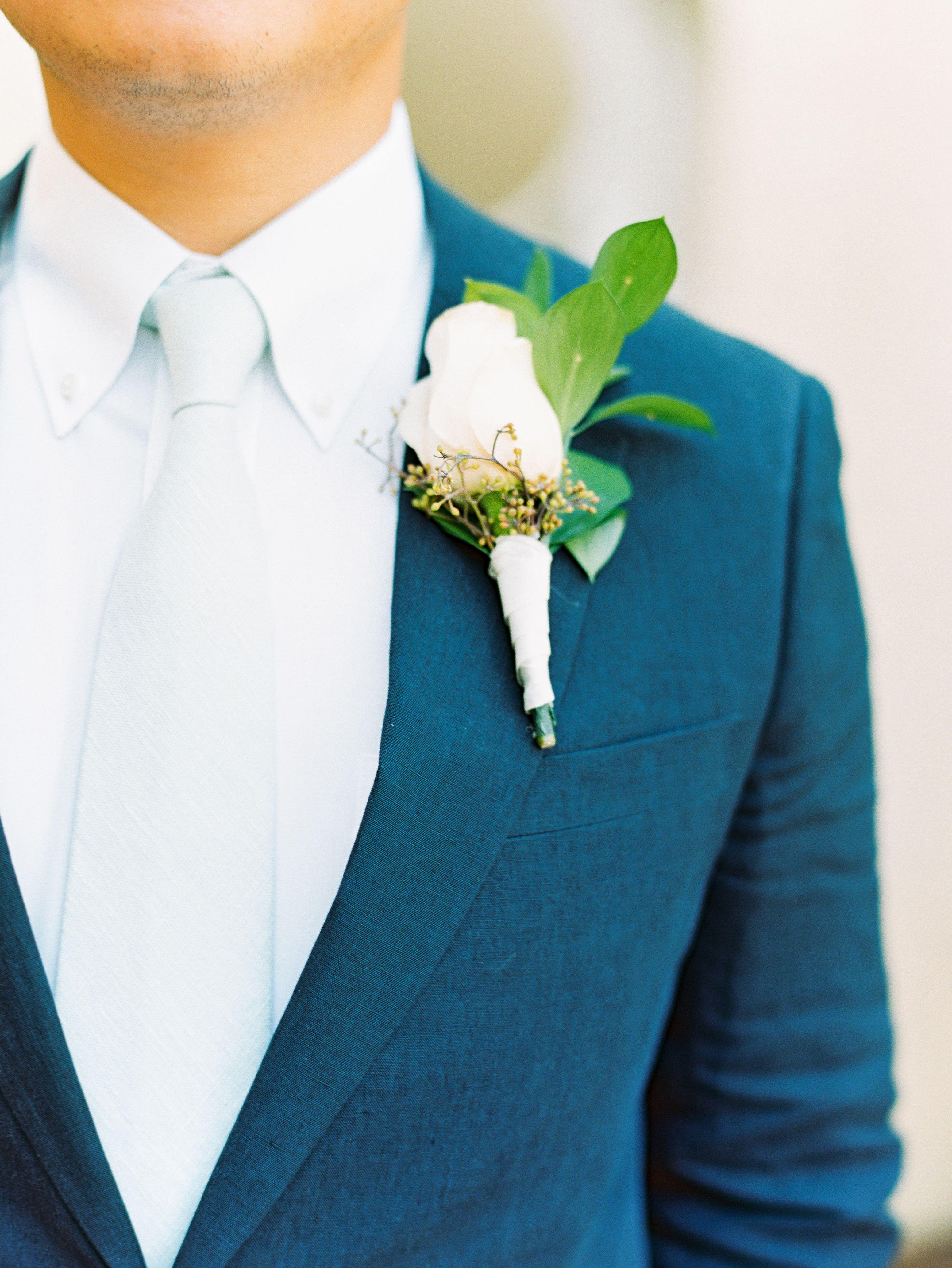 Classic white rose boutonniere sand castle dresses pinterest
