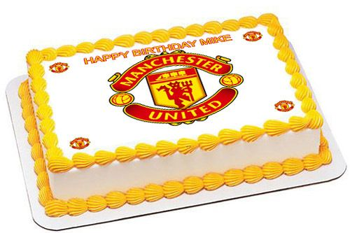 Sensational Manchester United Edible Birthday Cake Topper Or Cupcake Topper Funny Birthday Cards Online Sheoxdamsfinfo