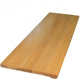 Best Red Oak Natural Prefinished Clear Retro Stair Tread 400 x 300