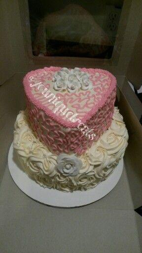 Rose themed butter cream cake