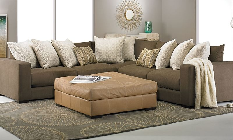 Lombardy Contemporary Track Arm Sectional Living Room Furniture Sectional Deep Seat Cushions Living Room Decor