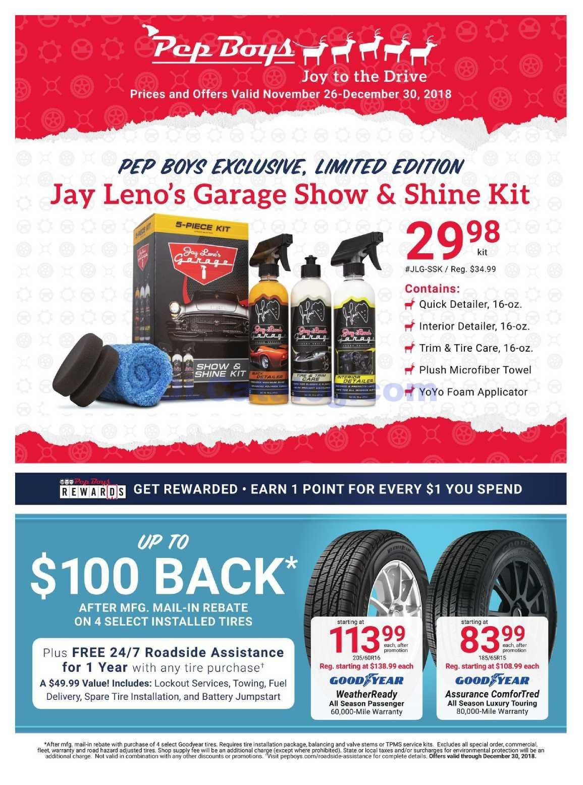 Pep Boys Weekly Ad November 26 December 30 2018 Do You Know