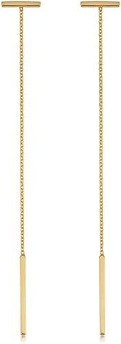 07b7e76396ae8 Enjoy exclusive for Kooljewelry 14k Yellow Gold Bar Dangle Earrings ...