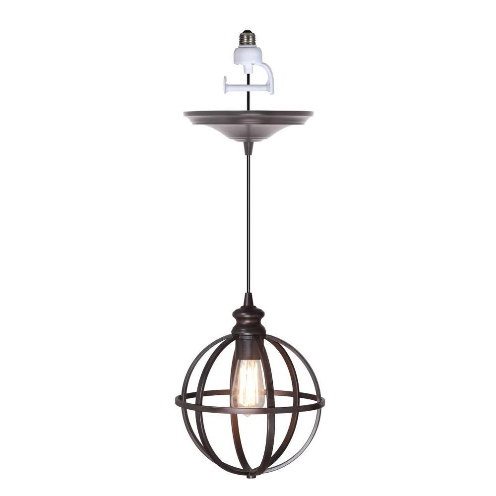 Worth Brushed Bronze Finish With Bronze 8 Cage Instant Pendant Light Conversion Kit Pbn 4034 001 Pendant Light Kit Screw In Pendant Light Bronze Pendant Light Recessed light conversion kit pendant