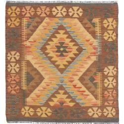 Kelim Afghan Old style Teppich 92x104 Orientalischer Teppich