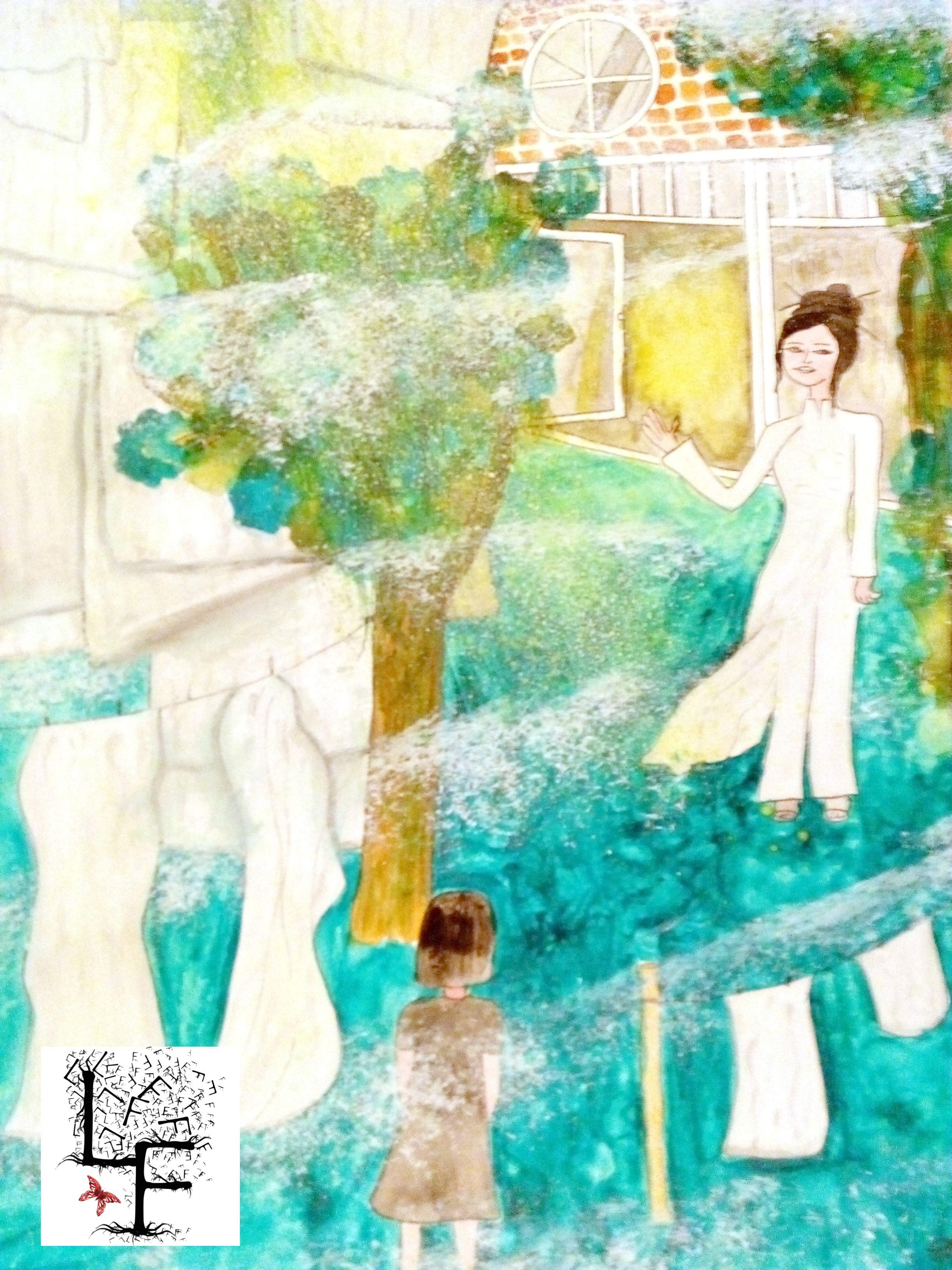 Reve D Enfant Aquarelle Et Acrylique Illustration Aquarelle