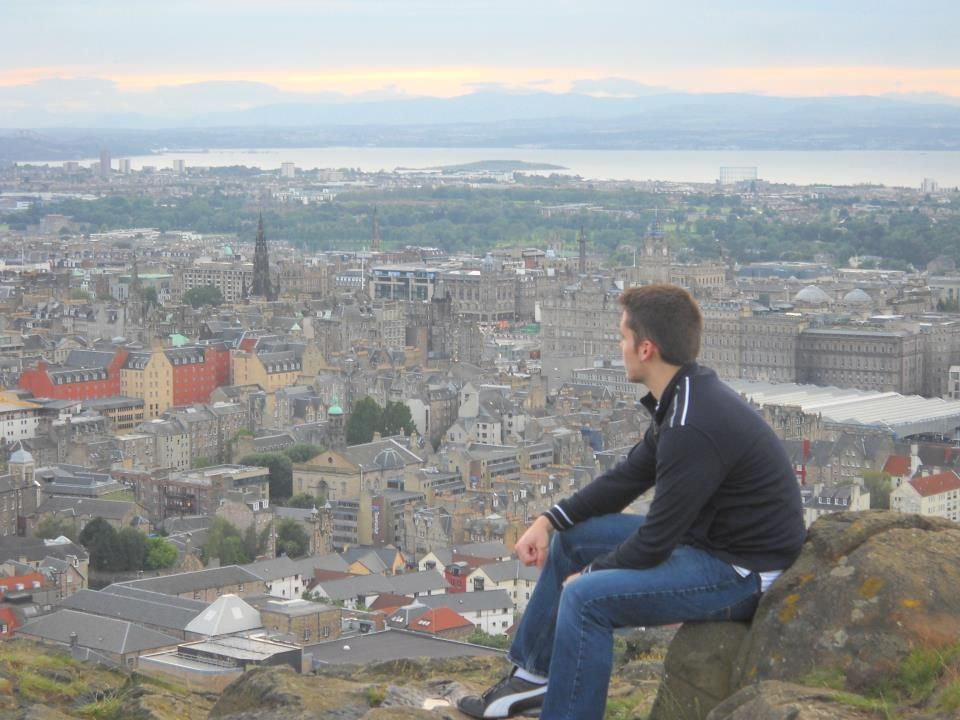 Chase Lawson spent some time reflecting on his time studying abroad in Europe. Here he is pictured atop of Arthur's Seat in Edinburgh, Scotland.