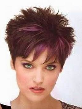 image result for short spiky haircuts for round face women