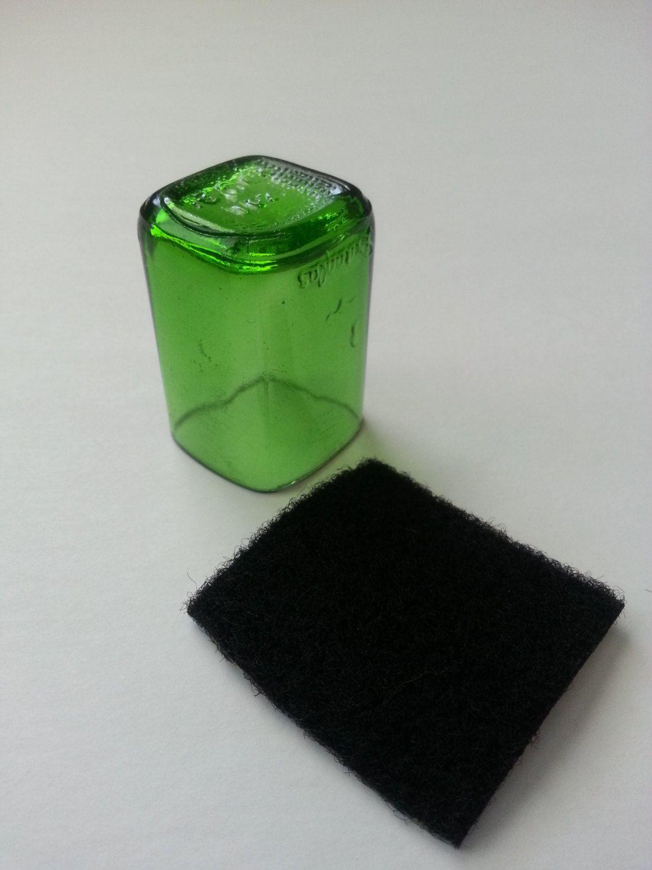 glass guitar slide green antique duraglass medicine bottle slides
