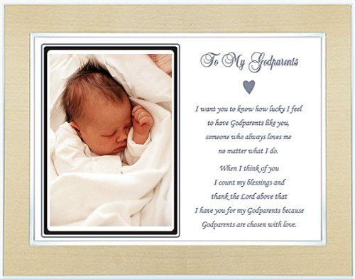 Godparents Gift from Godson - Godparents Frame with Baptism Thank ...