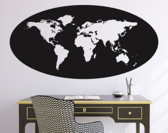 World map oval outline wall decal office pinterest outlines world map oval outline wall decal gumiabroncs Image collections