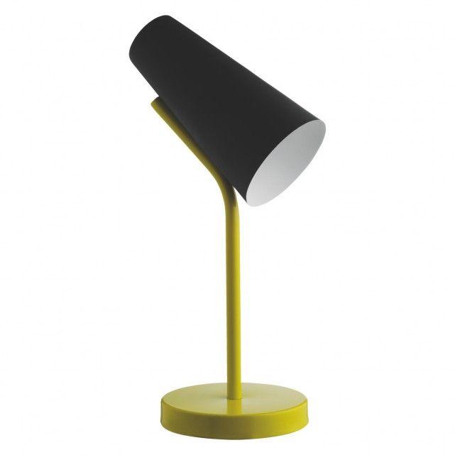 Rafi Black And Yellow Metal Desk Lamp Metal Desk Lamps Lamp Desk Lamp