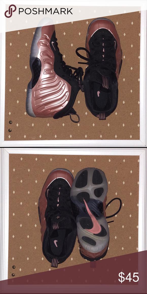 low priced 94a6b a3a41 Kids Rose Gold Foamposites Size 4.5 kids Nike Foamposites ...