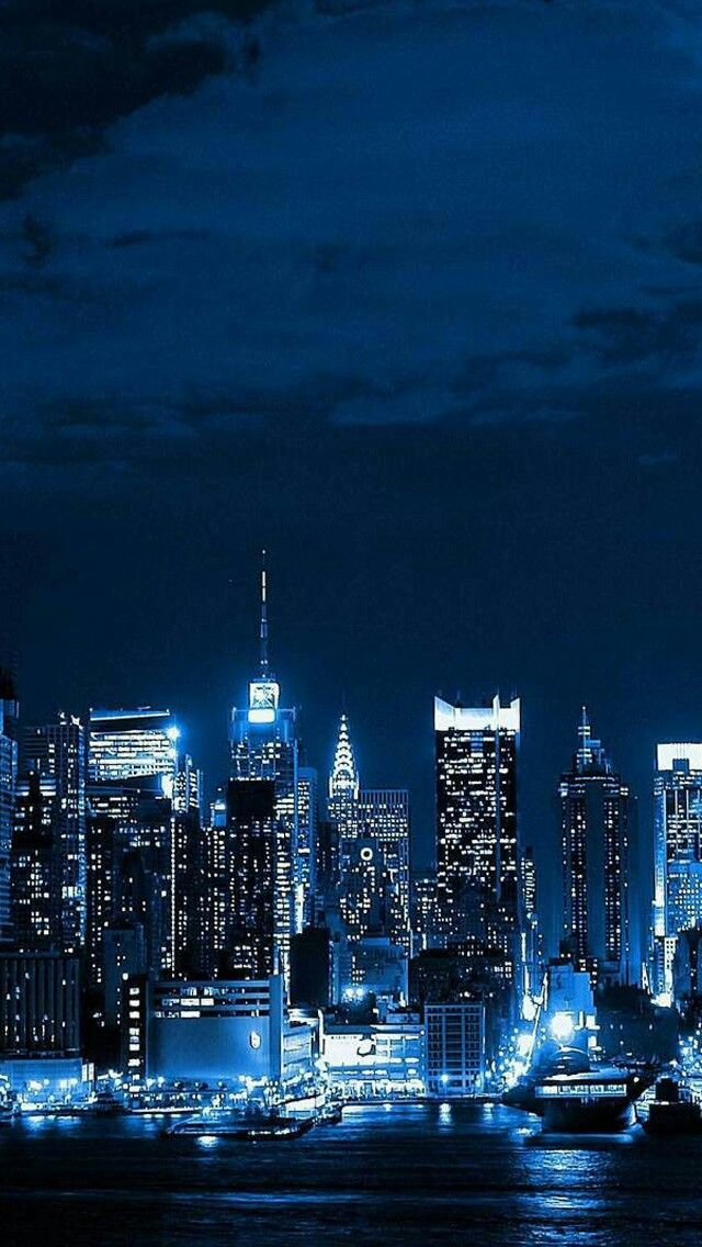 Blue Is Beautiful City Wallpaper Night Skyline Night City