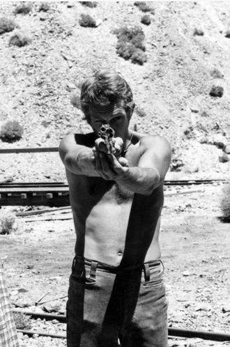 Steve McQueen enjoying his 2nd Ammendment rights