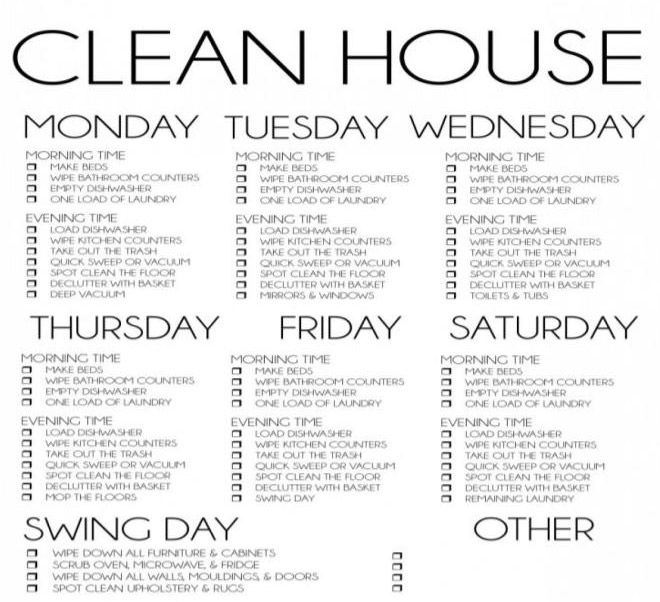 CLEANING CHECKLIST All the doors and windows are cleaned