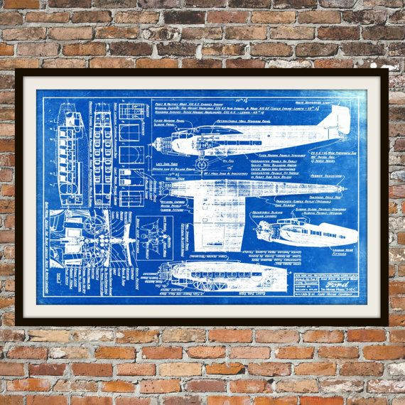 Blueprint art of plane ford tri motor with cabin by bigbluecanoe blueprint art of plane ford tri motor with cabin by bigbluecanoe malvernweather Image collections