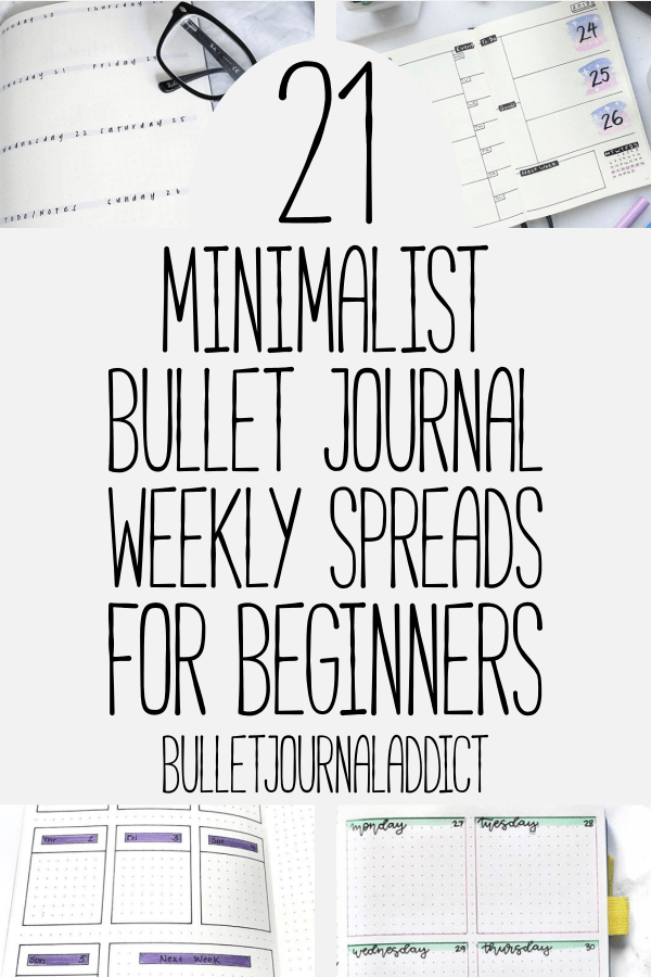 Bullet Journal Addict - 21 Easy Bullet Journal Weekly Spreads For Beginners